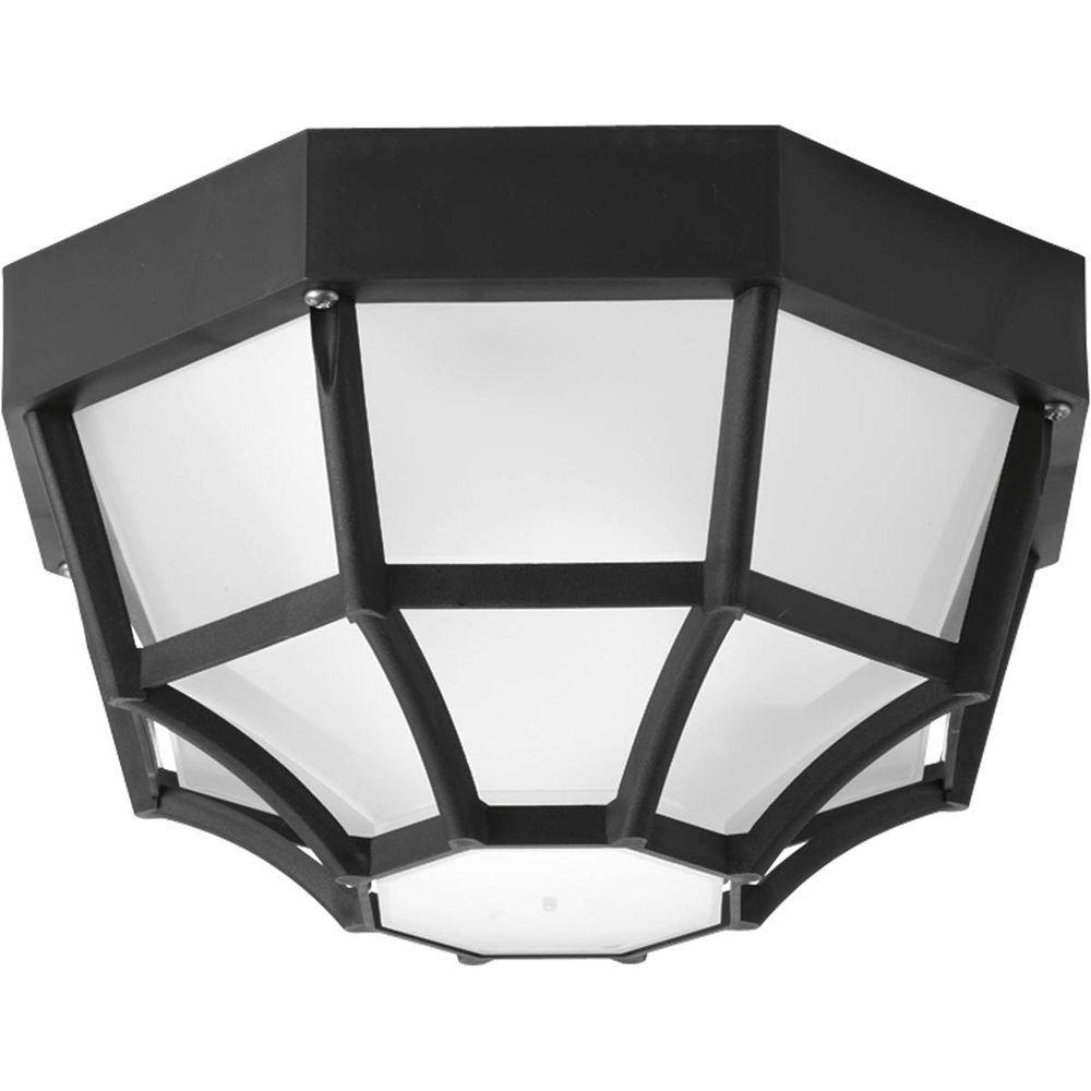 1 Light Black Flushmount