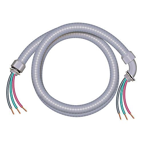 Câble électrique étanche aux liquides – Conducteurs cuivre calibre AWG 8/4 - M