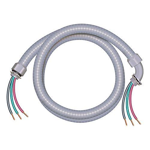 Southwire Câble électrique étanche aux liquides – Conducteurs cuivre calibre AWG 10/4 - M
