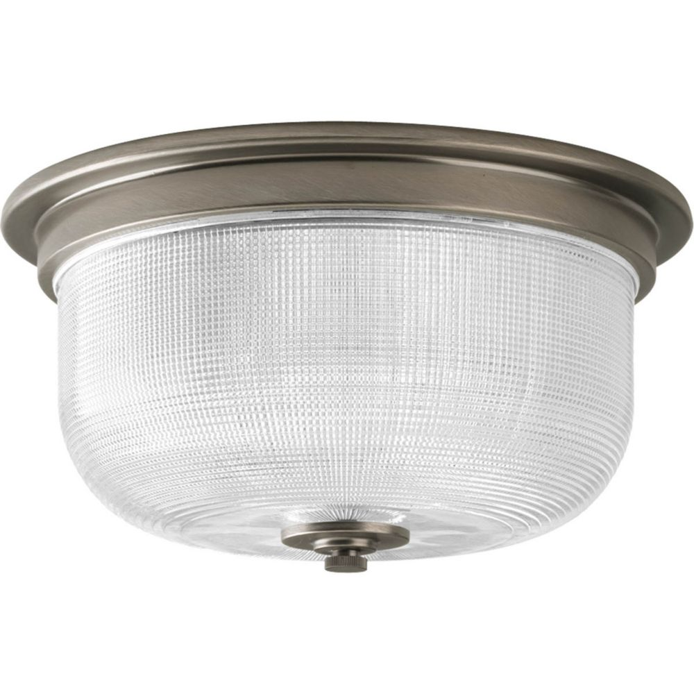 Archie Collection 2 Light Antique Nickel Flushmount
