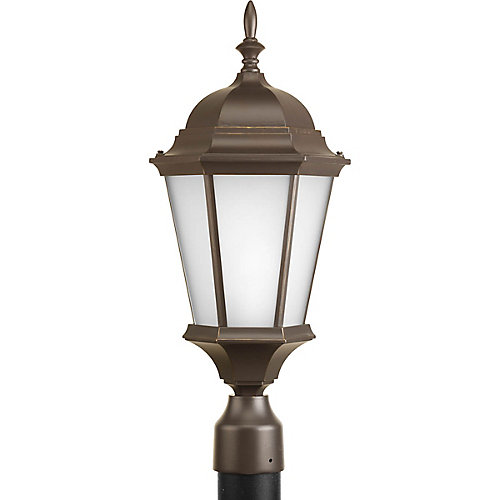 Lampadaire à 1 Lumière, Collection Welbourne - fini Bronze à l'Ancienne