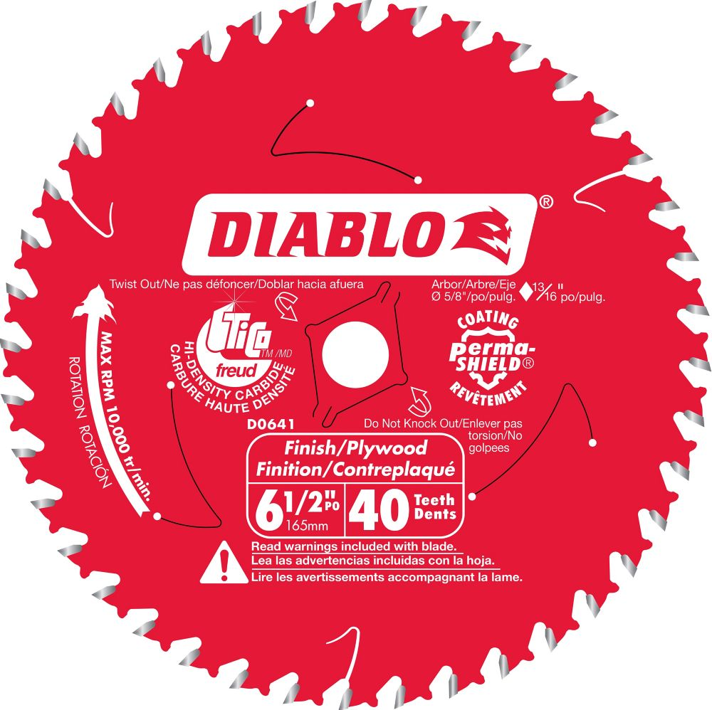 Diablo Fine Finishing Blade 6-1/2 Inch