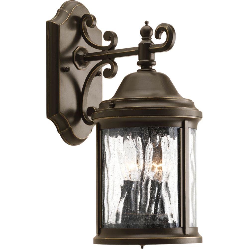 Progress Lighting Ashmore Collection 2 Light Antique Bronze Wall Lantern