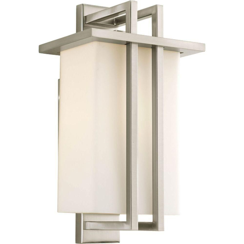 Dibs Collection 1 Light Brushed Nickel Wall Lantern