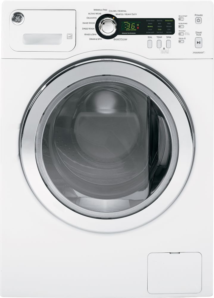2.6. cu. ft. capacity Front Load Washer in White On White