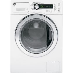 GE 2.6 cu. ft. High-Efficiency Front Load Washer in White - ENERGY STAR®