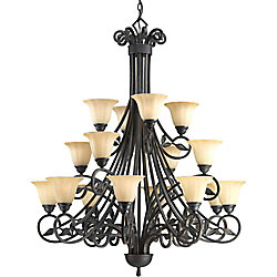 Progress Lighting Le Jardin Collection 16-Light Espresso Chandelier