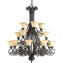 Progress Lighting Le Jardin Collection 16-Light Espresso Chandelier