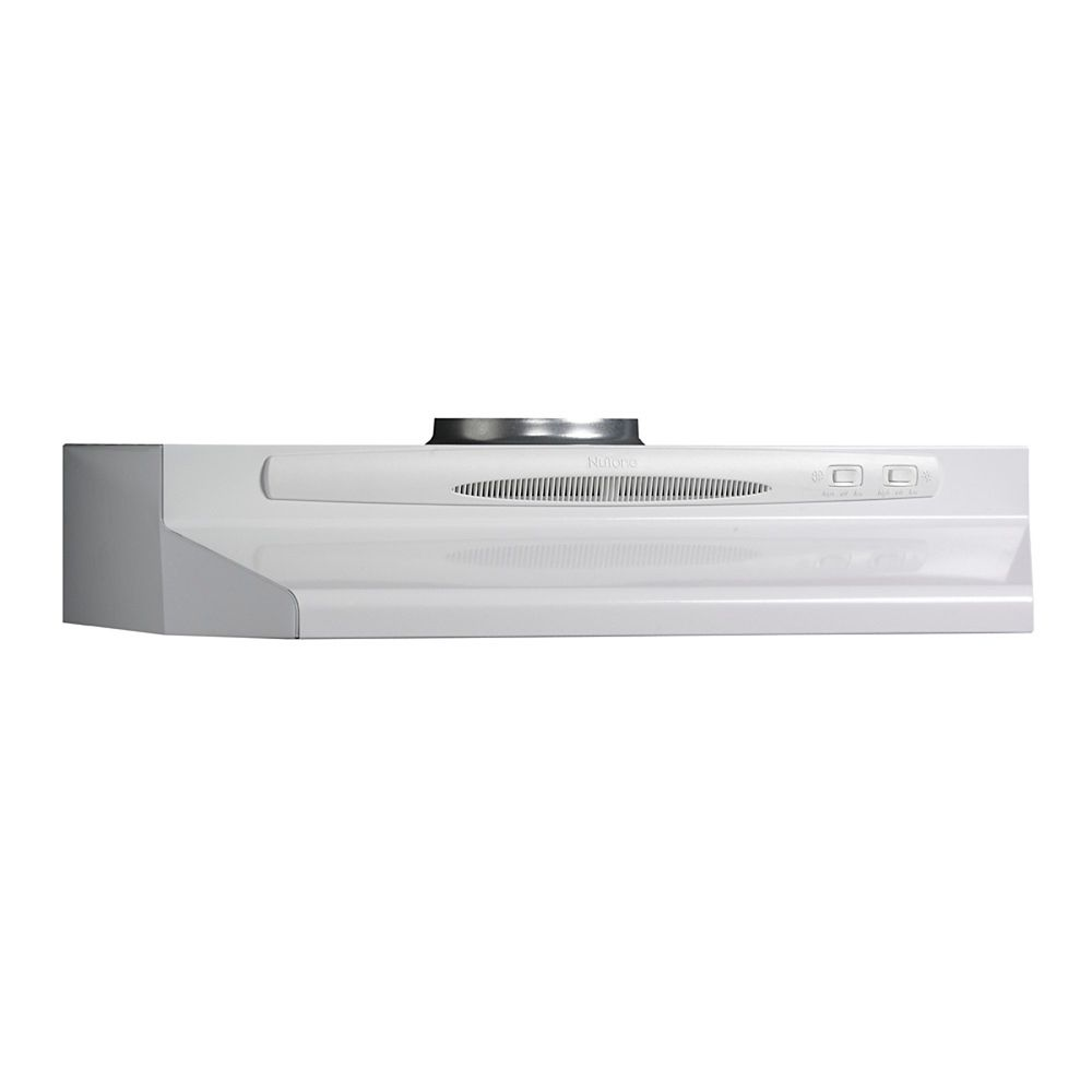 30-inch, 180 CFM Under Cabinet Range Hood with Rocker Fan in White