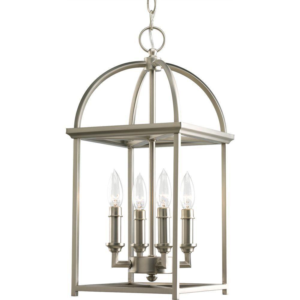 Progress Lighting Piedmont Collection 4-Light Burnished Silver Foyer Pendant