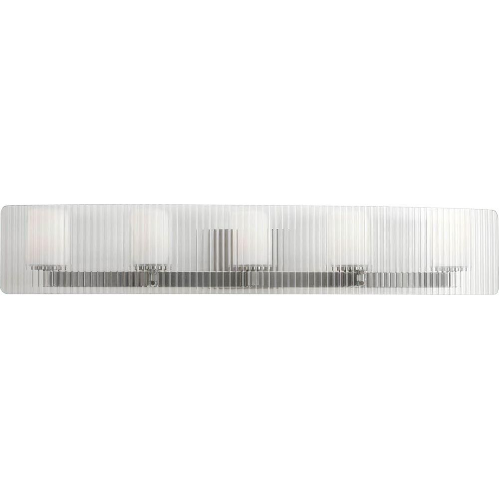 Coupe Collection 5 Light Brushed Nickel Bath Light