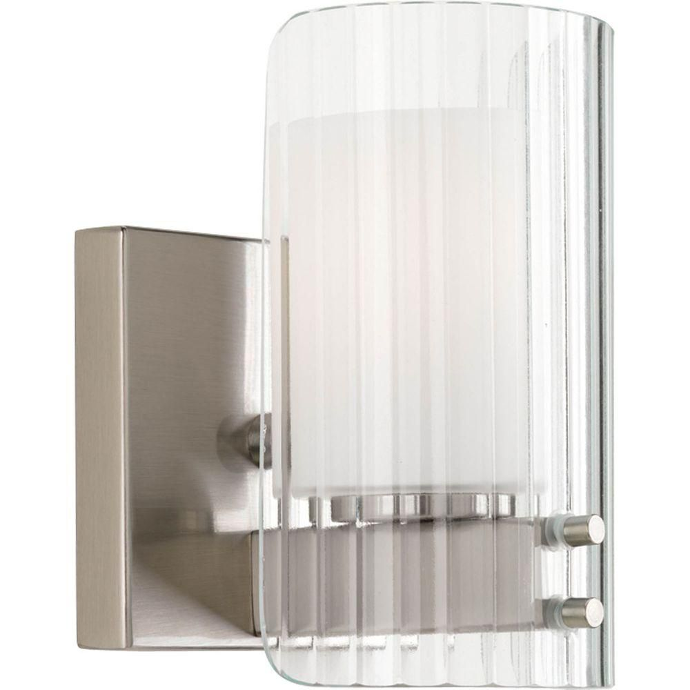 Coupe Collection 1 Light Brushed Nickel Bath Light