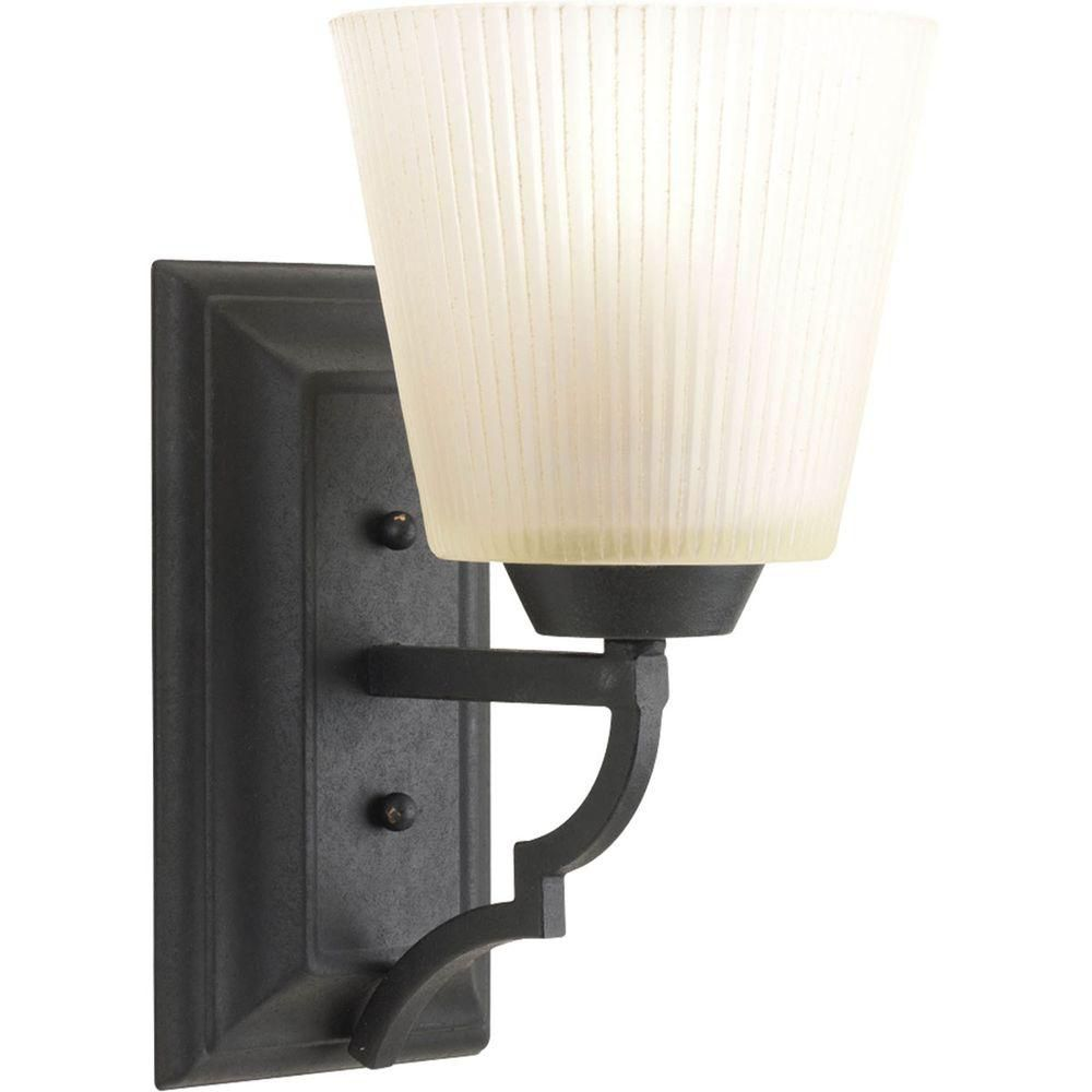 Meeting Street Collection 1 Light Forged Black Bath Light
