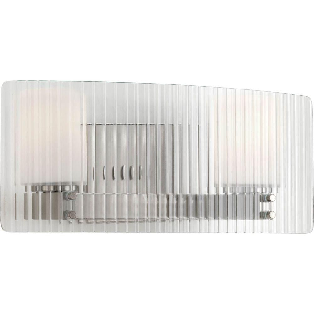 Coupe Collection 2 Light Brushed Nickel Bath Light