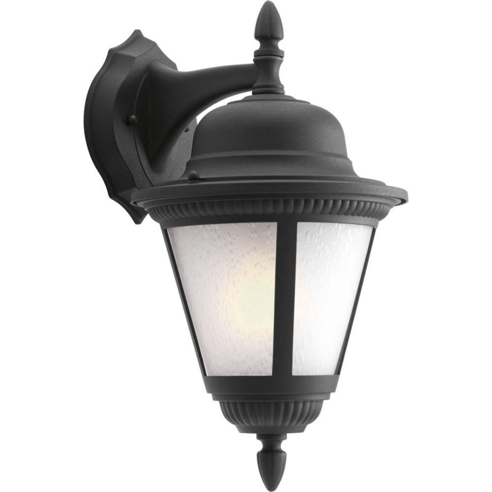 Fluorescente de Lanterne murale à 1 Lumière, Collection Westport - fini Noir