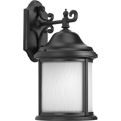 Fluorescente de Lanterne murale à 1 Lumière, Collection Ashmore - fini Noir