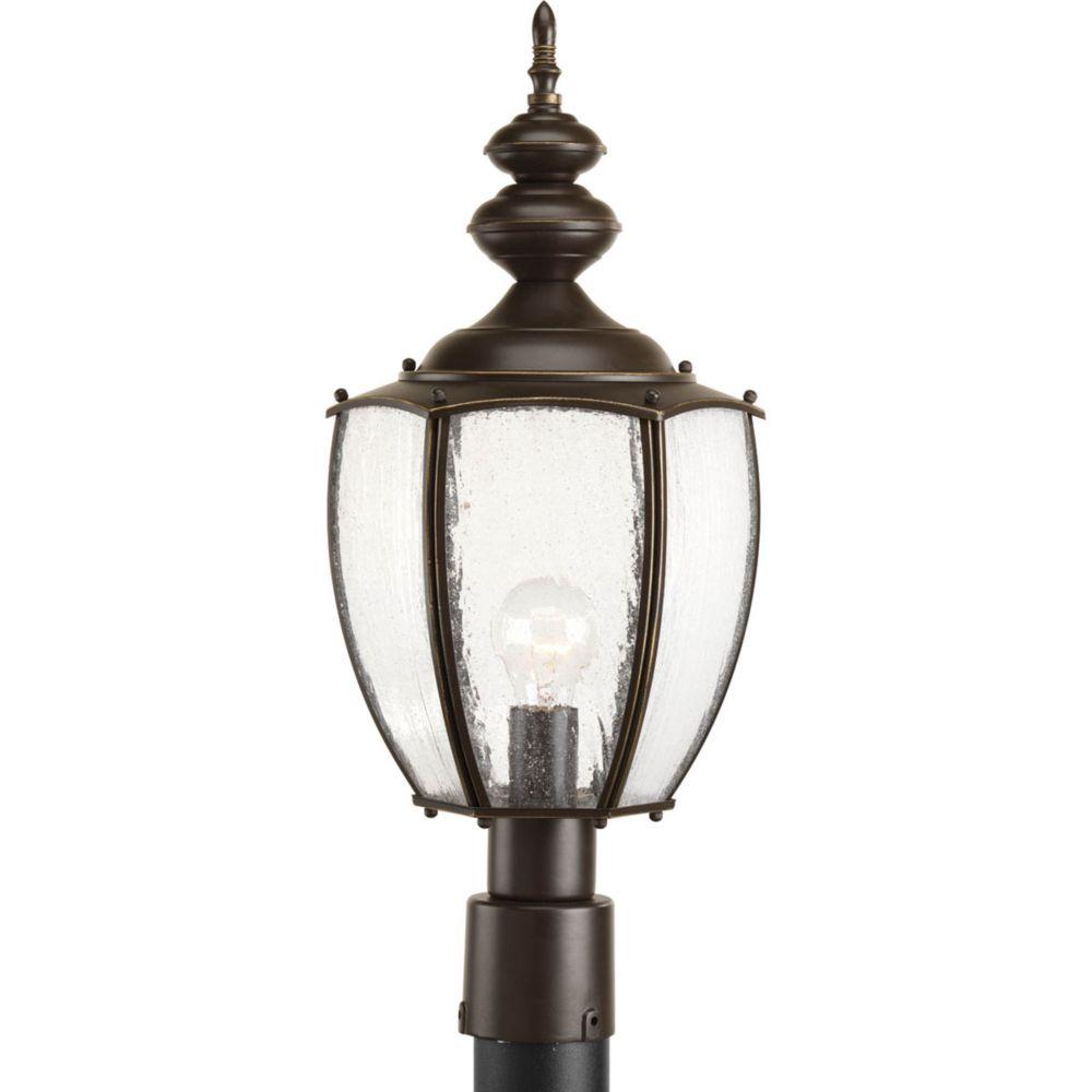 Lampadaire à 1 Lumière, Collection Roman Coach - fini Bronze à l'Ancienne