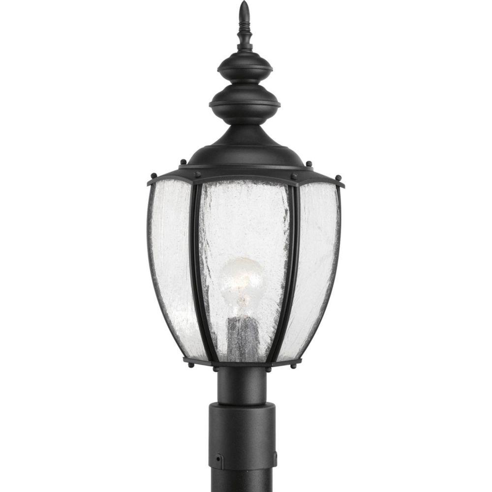 Roman Coach Collection 1 Light Black Post Lantern
