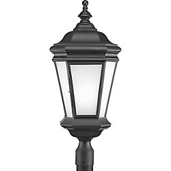 Progress Lighting Fluorescente de Lampadaire à 1 Lumière, Collection Crawford - fini Noir