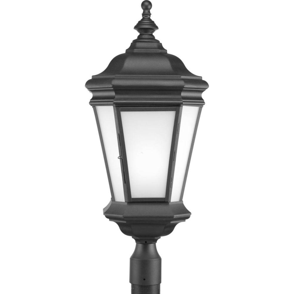 Crawford Collection 1 Light Black Fluorescent Post Lantern