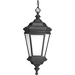 Progress Lighting Fluorescente de Lanterne suspendue à 1 Lumière, Collection Crawford - fini Noir
