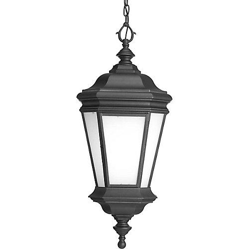 Fluorescente de Lanterne suspendue à 1 Lumière, Collection Crawford - fini Noir