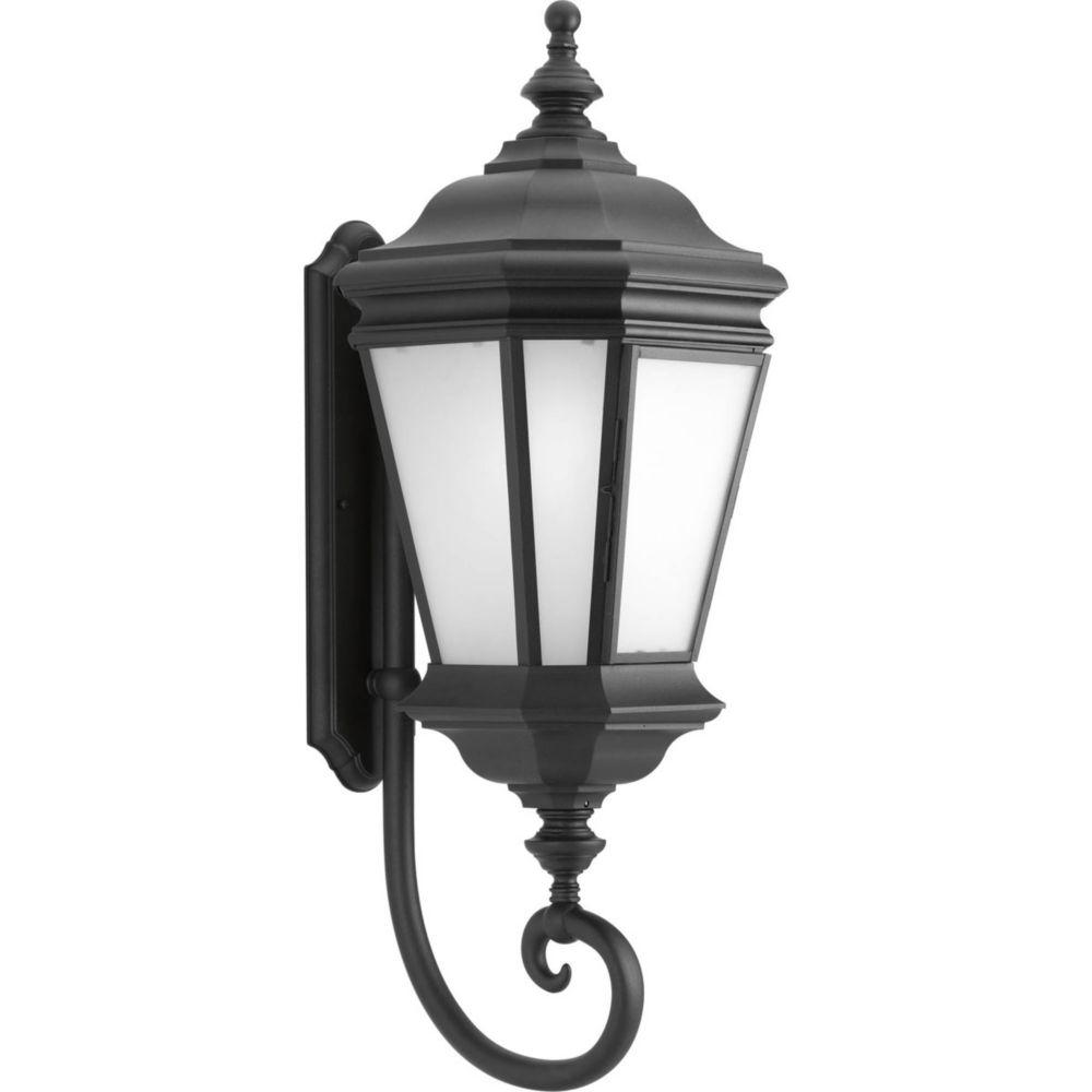 Fluorescente de Lanterne murale à 1 Lumière, Collection Crawford - fini Noir
