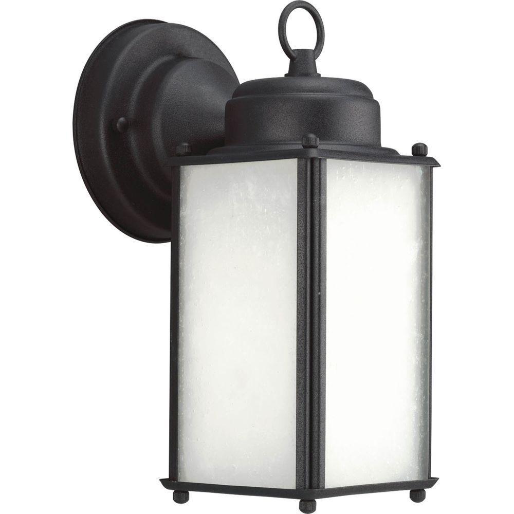 Fluorescente de Lanterne murale à 1 Lumière, Collection Roman Coach - fini Noir