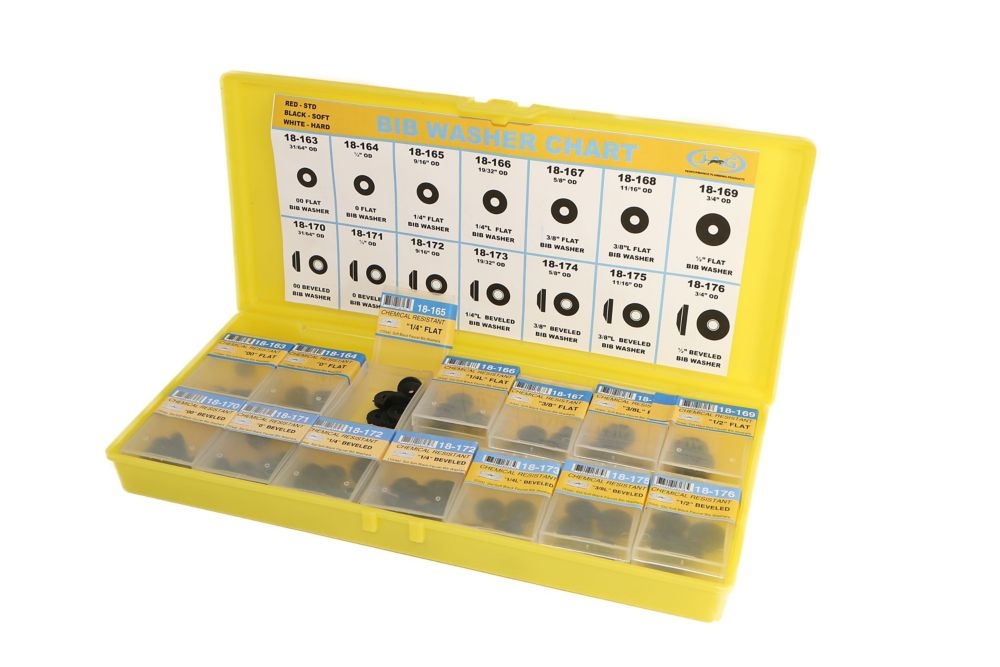 Jag Plumbing Products Contractor Pack:  SUPER SOFT BLACK BIBB WASHER ASSORTMENT KIT