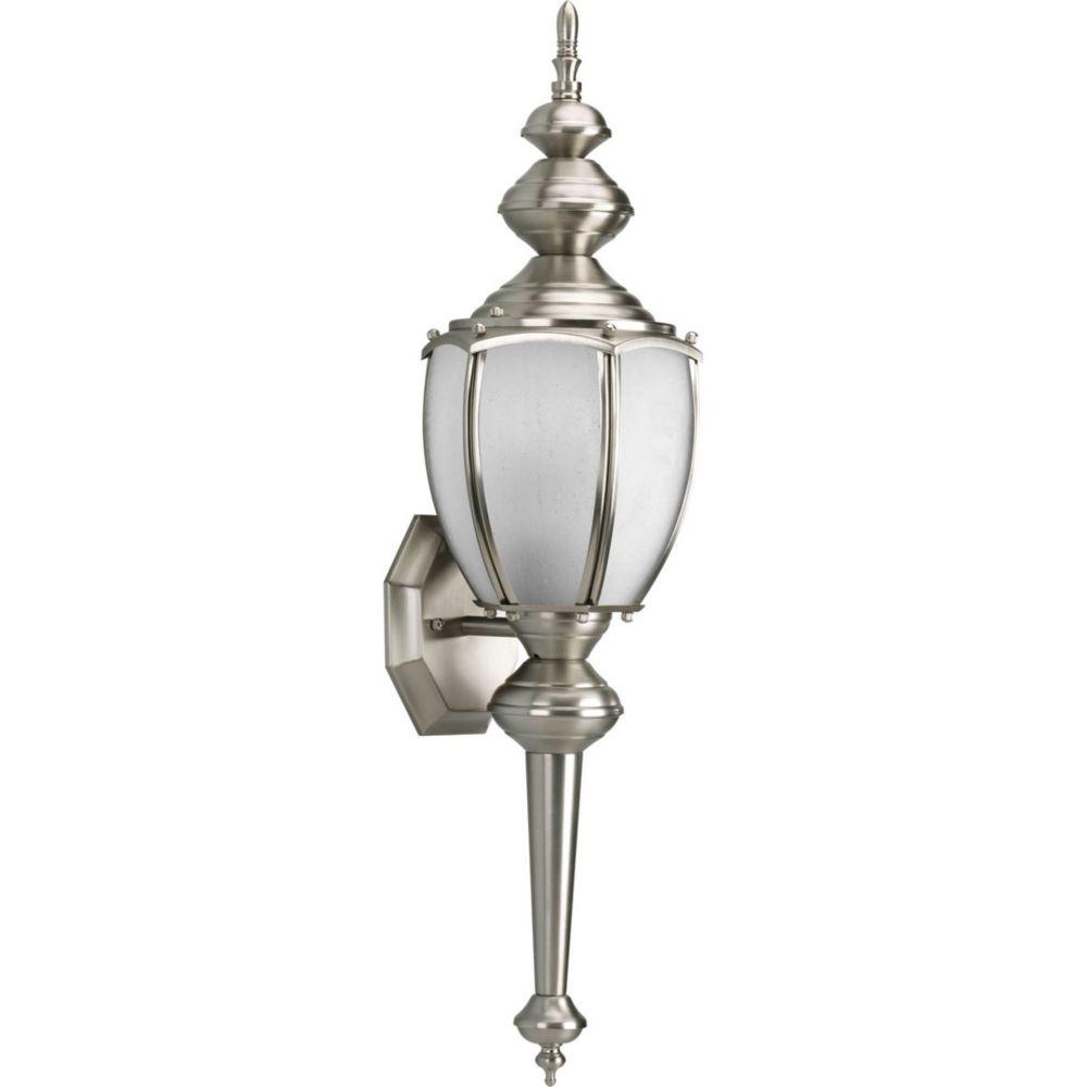 Roman Coach Collection 1- Light  Brushed Nickel Wall Lantern