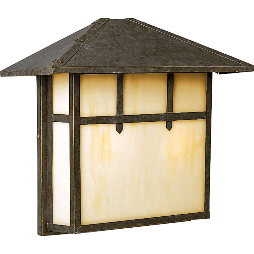 Mission Collection 2- Light  Weathered Bronze Wall Lantern