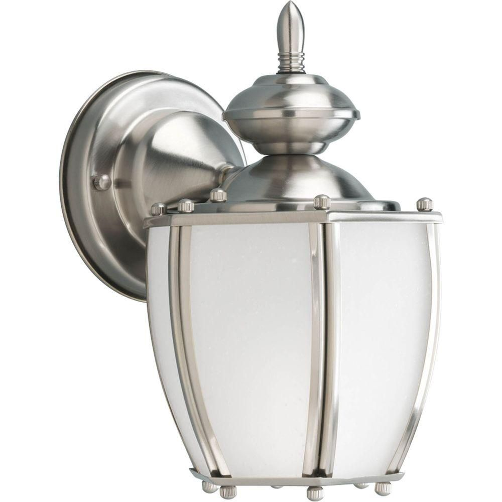Roman Coach Collection 1 Light Brushed Nickel Wall Lantern 7.85247E 11 Canada Discount