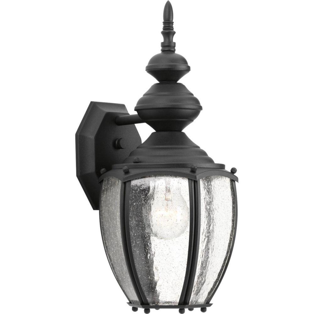 Lanterne murale à 1 Lumière, Collection Roman Coach - fini Noir