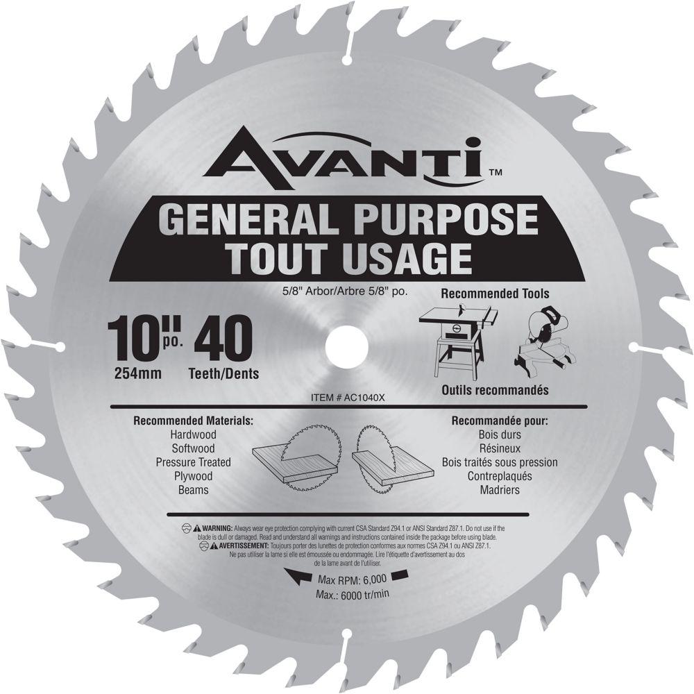 Avanti General Purpose Blade 10 Inch