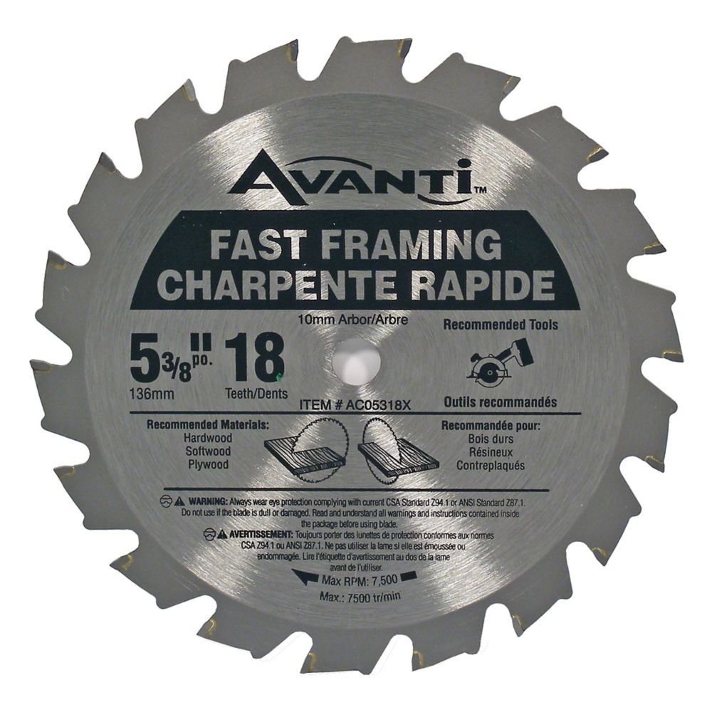 Lame Avanti 5-3/8 x 18 Dents