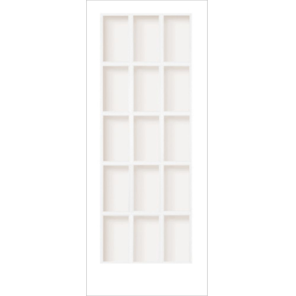 34-inch x 80-inch Primed Interior French Door with 15 Lite Clear Glass