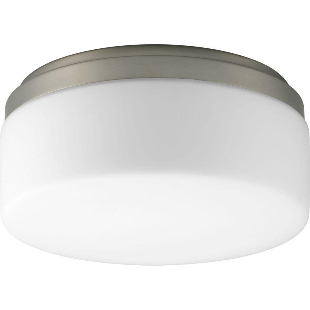 Fluorescente de Plafonnier à 1 Lumière, Collection Maier - fini Nickel Brossé