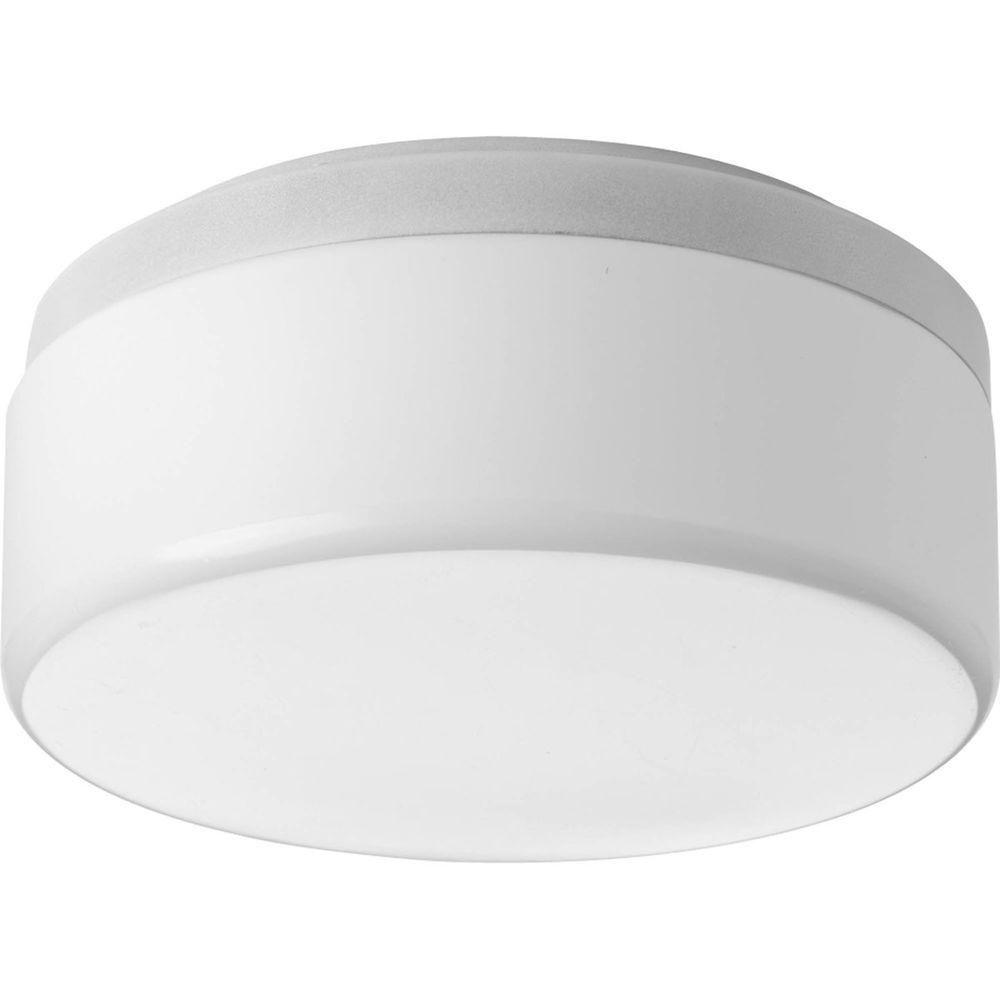 Fluorescente de Plafonnier à 1 Lumière, Collection Maier - fini Blanc