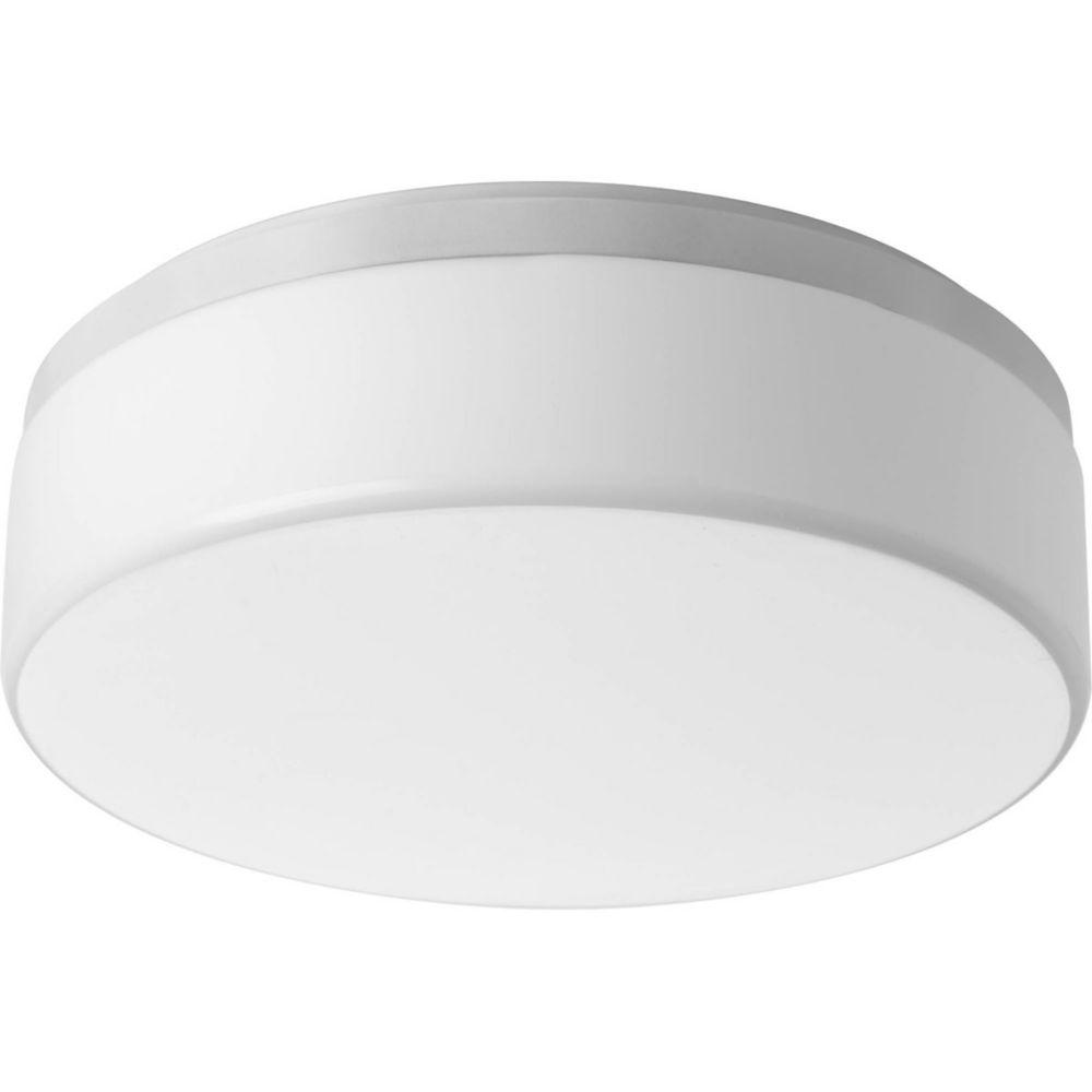 Fluorescente de Plafonnier à 2 Lumières, Collection Maier - fini Blanc