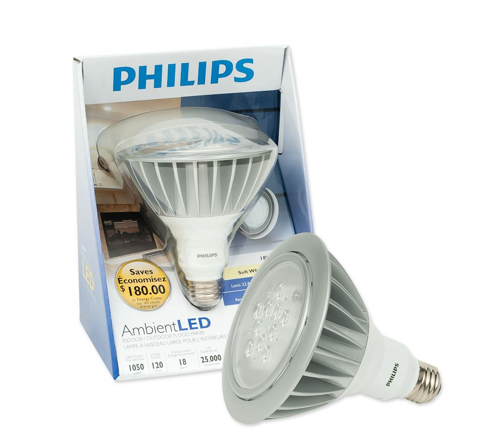LED 15W = 90W PAR38 Indoor/Outdoor Bright White (3000K)