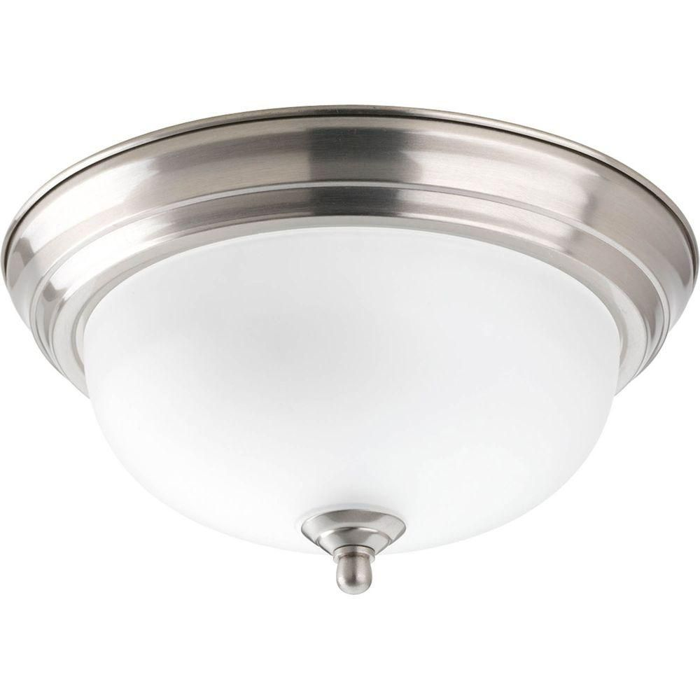 1 Light Brushed Nickel Flushmount