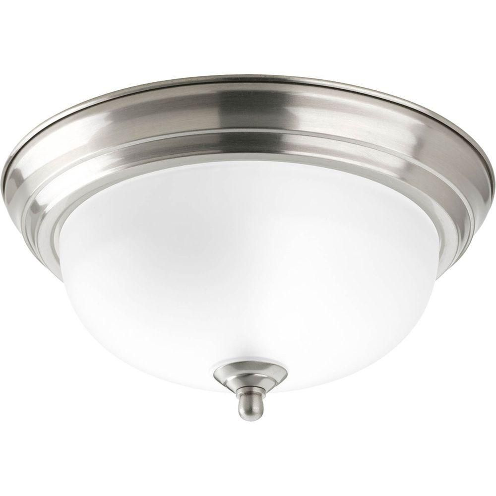Progress Lighting 1 Light Brushed Nickel Flushmount