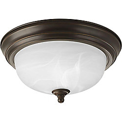 Progress Lighting 1 Light Antique Bronze Flushmount
