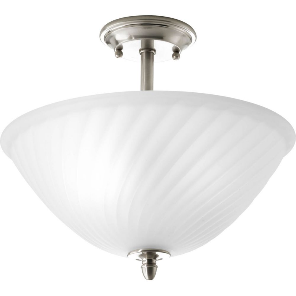 Kensington Collection 2 Light Brushed Nickel Semi-flushmount 7.85247E 11 Canada Discount