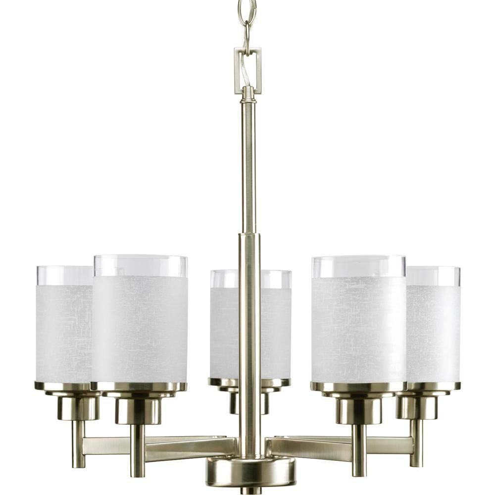 Progress Lighting Alexa Collection Brushed Nickel 5-light Chandelier