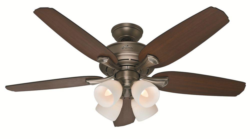 Channing 52. Étain antique Ventilateur de plafond intérieur