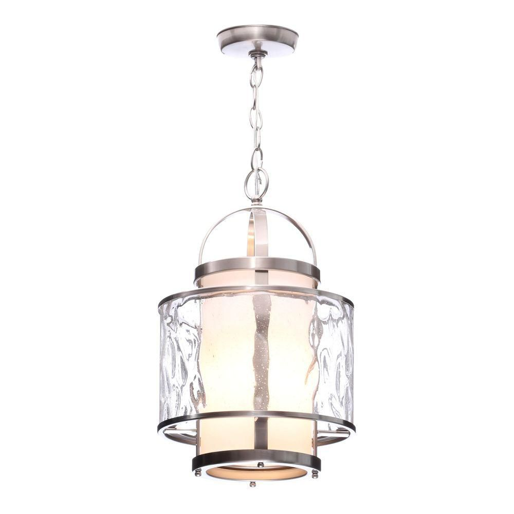 Foyer Pendant Lighting : Progress lighting bay court collection brushed nickel