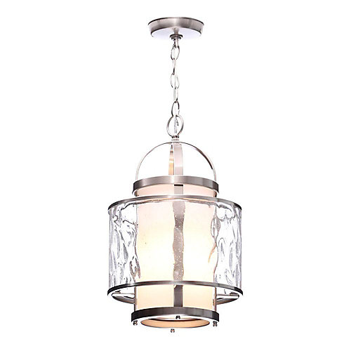 Bay Court Collection Brushed Nickel 1-light Foyer Pendant