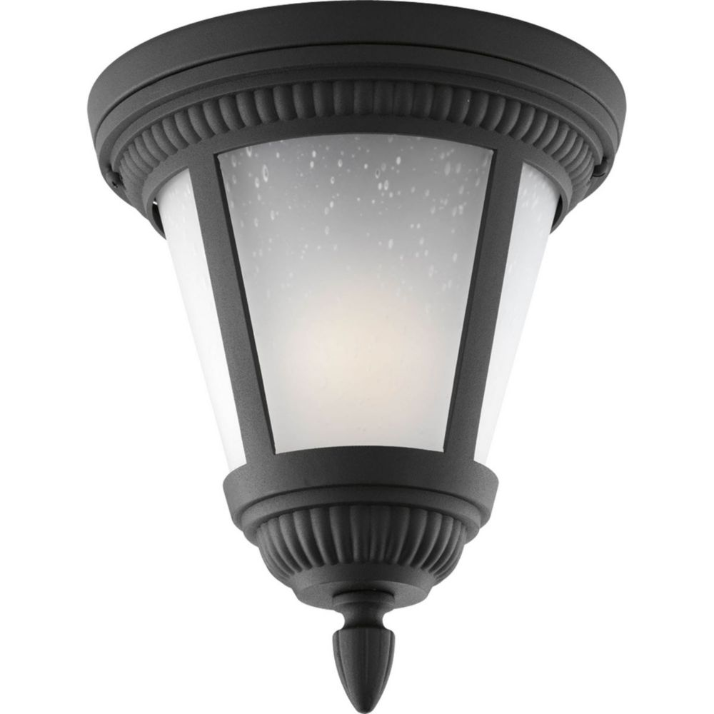 Westport Collection 1 Light Black Outdoor Flushmount