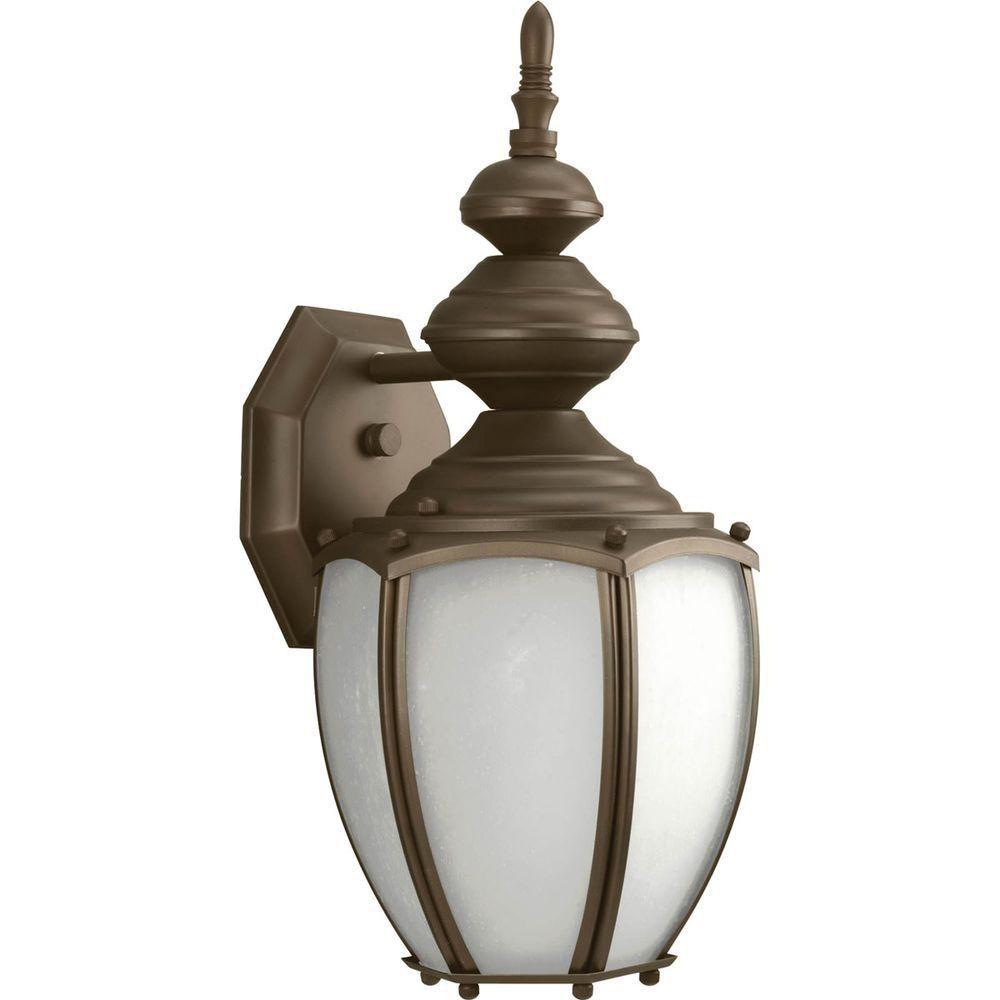 Fluorescente de Lanterne murale à 1 Lumière, Collection Roman Coach - fini Bronze à l'Ancienne